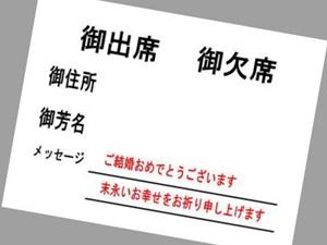 招待状メッセージ