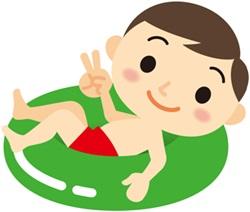 浮き輪の子供
