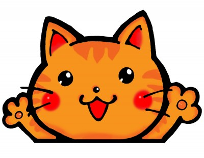 猫ばんざい
