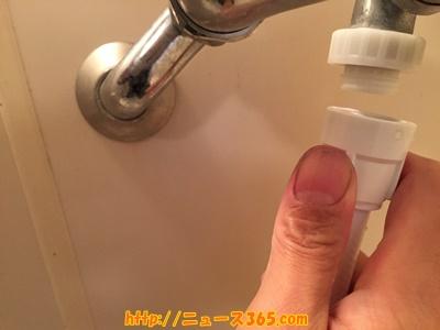 シャワーホースを繋ぐ