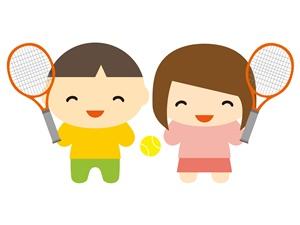 テニスをしている子供