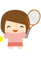 テニスをする娘2