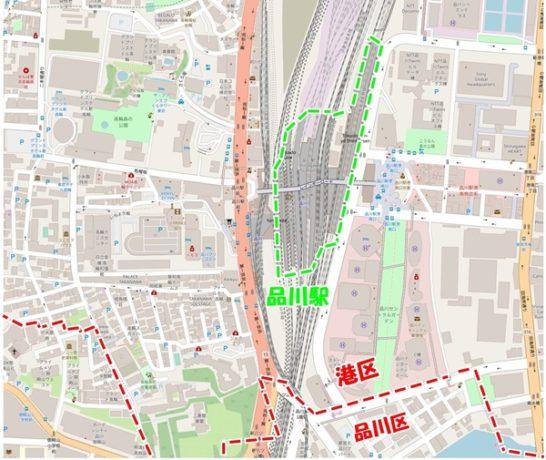 品川駅地図
