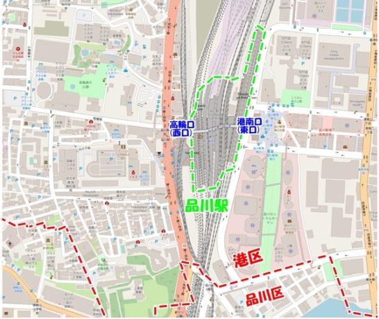 品川駅出口地図