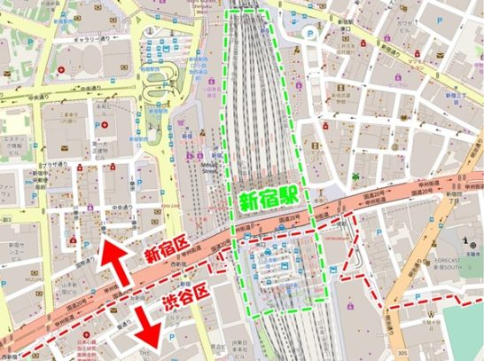 新宿駅地図